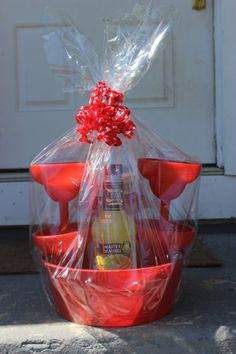 Margarita Gift Basket by Toocutediapercakes on Etsy, $40.00