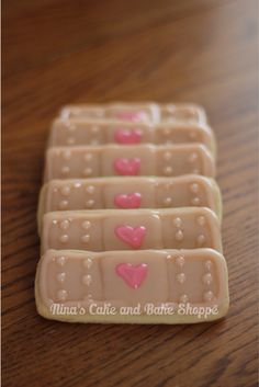 Doc Mcstuffins birthday party, bandaid cookies {Nina's Cake and Bake Shoppe} on Facebook  and Instagram!!