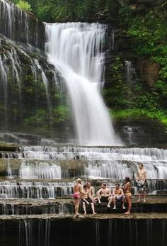 Welcome to Cummins Falls swimming hole. One of Tennessee's best-kept secrets.