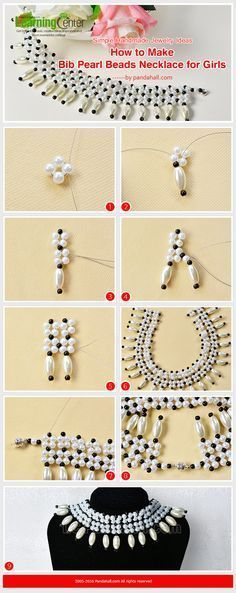 Simple Handmade Jewelry Ideas--How to Make Bib Pearl Beads Necklace for Girls from LC.Pandahall.com