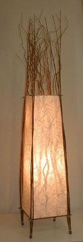 Custom Handmade Paper Table Lamps from AmbientArt.com
