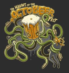 The Haunt of OctoBeer Fest by Charles AP, via Behance