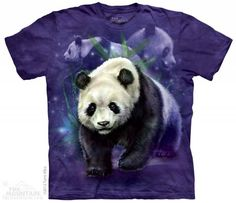 The Mountain Panda Bear T-shirt | Panda Collage, Bear T-shirts by The Mountain, 103322