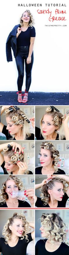 Wanting to dress up as Sandy from Grease for Halloween? Come checkout this Sandy from Grease hair tutorial + costume idea!