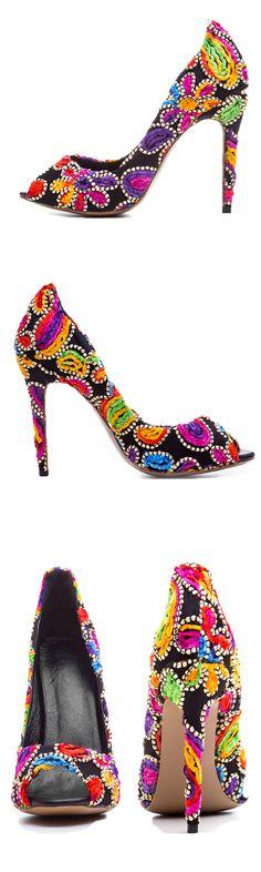 Unique design for heels>Material:Cloth>Heel Height:12cm