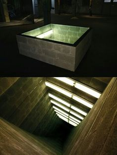 Wi-Fi Infinity Mirror Table including a USB Charger - Salvabrani Light Art, Lamp Light, Infinity Mirror Table, Modern Lighting, Lighting Design, Infinity Spiegel, Infinite Mirror, Window Glass Design, Mirror Illusion