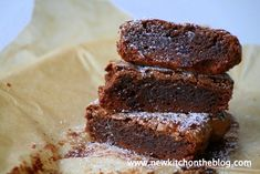 New Kitch On The Blog: Noch eins drauf: Double Chocolate Brownies