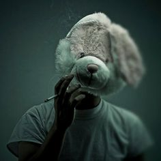Maybe I should stop smoking now so I can completely lose my mind!?! smoking rabbit ~ model unknown 【ツ】