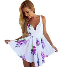 Women's Casual Floral Printed Loose Dress