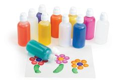 Bingo Bottle Refillable Markers with Tips & Caps - Set of 12