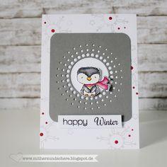 Pinguin-Karte, Winter, Weihnachten