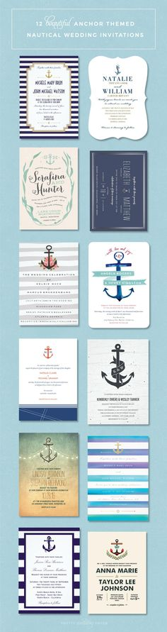 Nautical Wedding Invitations // Anchor-Themed Wedding Invitations // Nautical Wedding Ideas