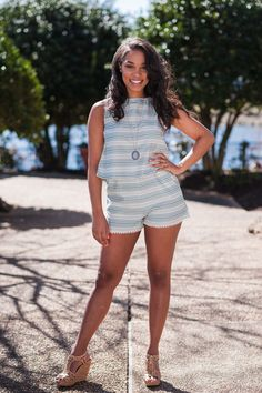 This cute sleeveless top is the perfect addition to your spring wardrobe. Thesage green striped crop top goes great as a set with the matching Lips Are Sealed