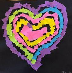 Artsonia Art Gallery - Torn paper valentines Kindergarten Art Lessons, Torn Paper, Art Portfolio, Paper Art, Homeschool, Art Gallery, Vibrant, Valentines, Christian
