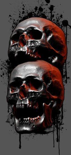 Skull Tattoo Design, Skull Design, Skull Tattoos, Tattoo Designs, Human Skeleton, Human Skull, Tattoo Caveira, Clowns, Skull Reference
