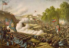 The Second Battle of Corinth (which, in the context of the American Civil War, is usually referred to as the Battle of Corinth, to differentiate it from the Siege of Corinth earlier the same year) was fought October in Corinth, Mississippi. Battle Of Chancellorsville, America Civil War, Civilization, American History, Fine Art, Artist, October, Corinth Mississippi, Soldiers