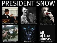 President Snow... I kinda hate you but then you're one of the best villians in nerd history except maybe the Joker