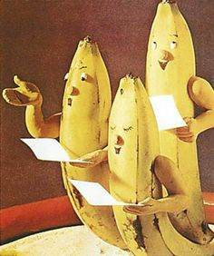 There is something about bananas that is inherently funny. Heck, it even sounds funny. Go ahead - say it three times fast: banana, banana, . Little Prayer, Prayer For You, Banana Picture, Buffet Dessert, Tony Horton, Banana Oatmeal Cookies, Banana Art, Strange Fruit, Fruit Art