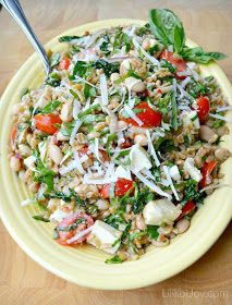 Farro and White Bean Salad with Basil-Balsamic Vinaigrette