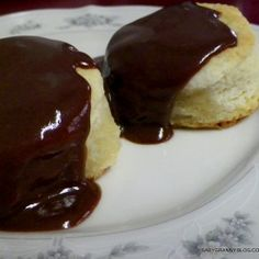 Chocolate Gravy and Aunt Geraldine's Biscuits....link to perfect biscuits