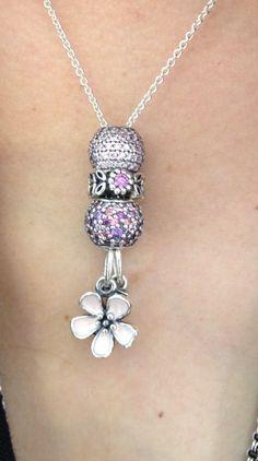 Long dress necklaces pandora