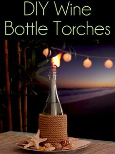Great DIY Craft Project to do with leftover wine bottles