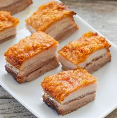 This is the best pork belly recipe I've made. The pork skin is incredibly crispy, perfectly golden, and the prep work is very minimal compared to all the other pork bellies I've made. No need to score or puncture holes in the skin. Fodmap Recipes, Pork Recipes, Cooking Recipes, Crispy Pork Belly Recipes, Best Pork Belly Recipe, Chinese Pork, San Diego Food, Chicharrones, Pork Roast