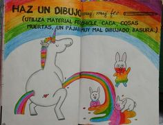 "Destroza este diario/ Wreck this journal ""Haz un dibujo muy muy feo"" ""Do a really ugly drawing"""