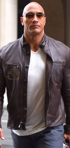 The Rock Dwayne Johnson, Ex Husbands, Beautiful People, Short Hair Styles, Leather Jacket, Suits, Jackets, Future, Gallery