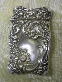 Gorgeous Victorian sterling silver rococo match safe from late 1800s. Very ornate and in excellent (I would say perfect) condition. This could
