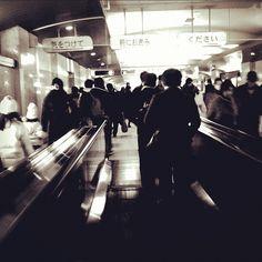 Grey train station walkway