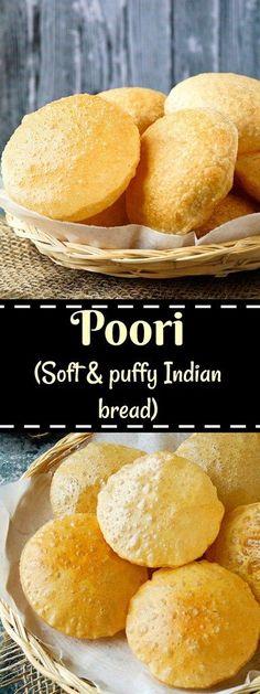 Poori recipe | Puri recipe | Soft & puffy deep-fried Indian bread.