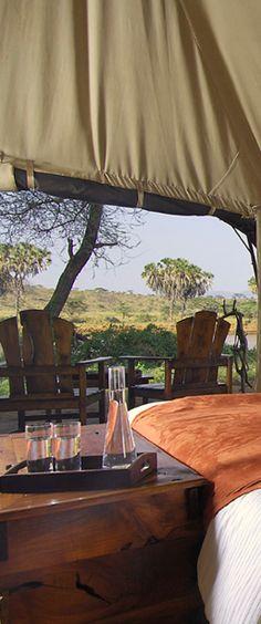 Go glamping during your safari in Kenya.