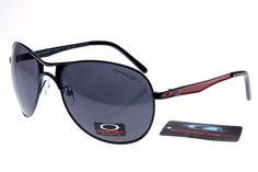 Oakley Plaintiff Sunglasses Black Red Frame Black Lens 0857