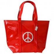 Anne-Charlotte Goutal Cabas School Peace and Love Rouge et argent en vente sur http://www.matemonsac.com