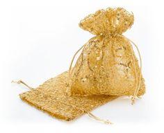 Säckchen, gold, 17 x 12,5 cm, 2 Stück € 3,95