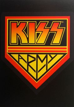 Official Kiss postcard measuring approx 10 5cm x 15cm featuring the Army Badge logo design Rock Off Live Nation Officially Licensed Merchandise See