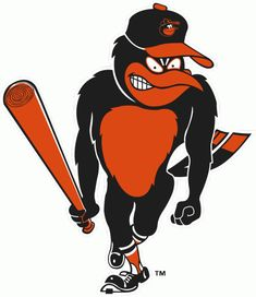 Baltimore Orioles Bird Logo | Baltimore Orioles Alternate Logo (1967) - Angry Oriole with a baseball ...