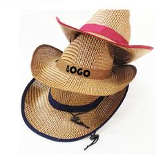 e66f263bfc32b Western Straw Cowboy Hat Imprintable Bands Available