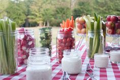 picnic party ideas - great way to present veggies!