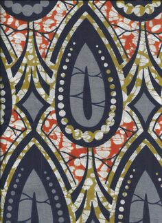 Imported African Fabric Blue 1 yard Cotton by QuiltSewModern, $8.95
