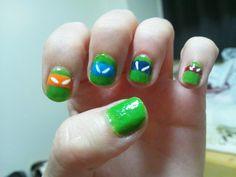 mygirlnerd:  Teenage Mutant Ninja Turtles nail art
