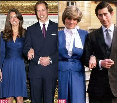 The Princesses wore blue to their official engagement announcements.