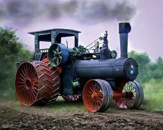 Case 110hp Steam Tractor by F Leblanc