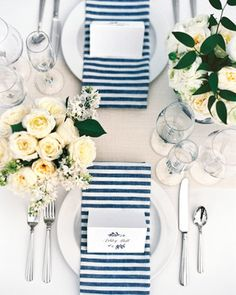 Preppy Navy-Striped Table Setting