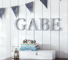 Spell it out in oversized style with these serif letters.