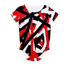 """Black, Red And White Graffiti Art"" baby bib #giftsforinfants"