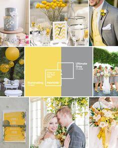 Gray Pantone, Pantone Color, Yellow Grey Weddings, Gray Weddings, Grace Elizabeth, Ballard Designs, Wedding Mood Board, October Wedding, Color Of The Year