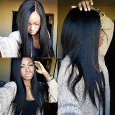 #Natural color France Lace 130% Density Brazilian  Human Hair  Virgin Straight…