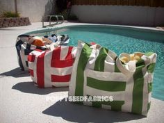 Beach Bags...I think me and my friends need these!!! Gonna get to sewing them!!